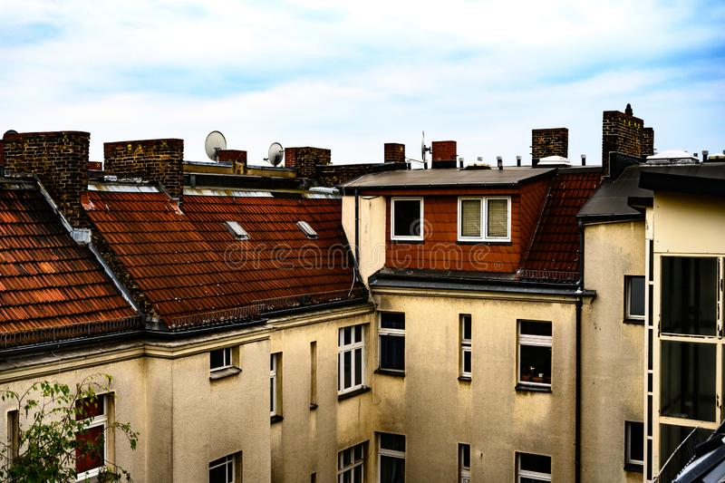 Rooftop view in Berlin Germany royalty free stock images