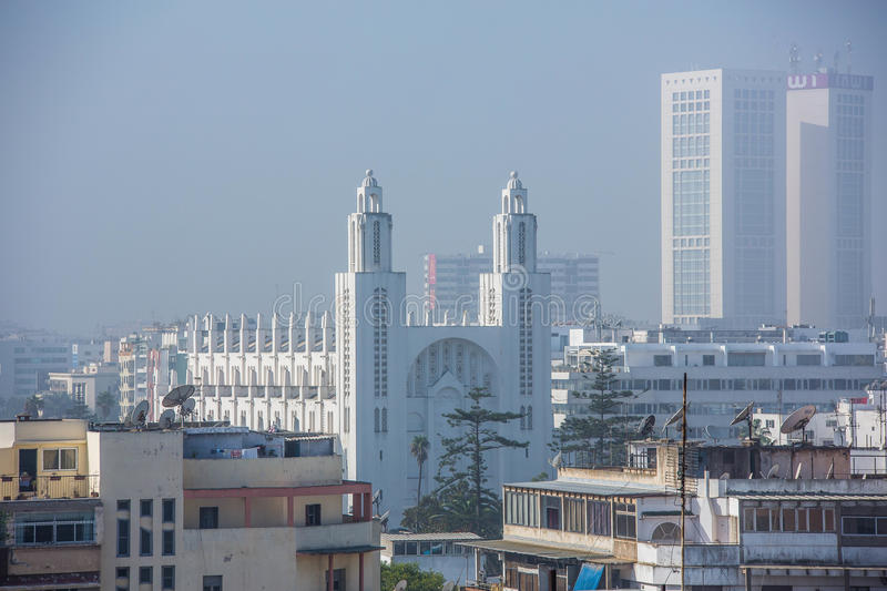 Rooftop view of Casablanca, Morocco. stock image