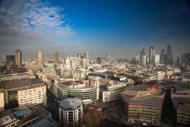Rooftop view of London stock photo
