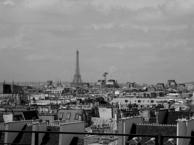 Rooftop View of Paris and Eiffel Tower royalty free stock image