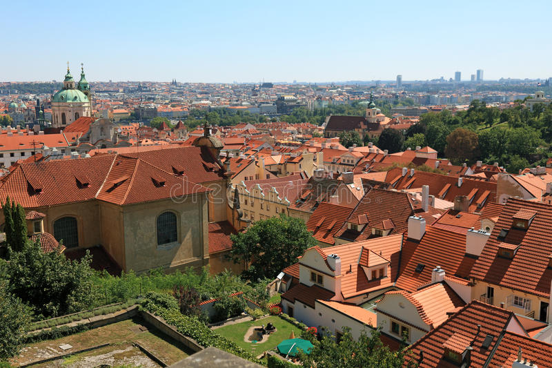Download Rooftop view of Prague. stock photo. Image of chimney - 20016256