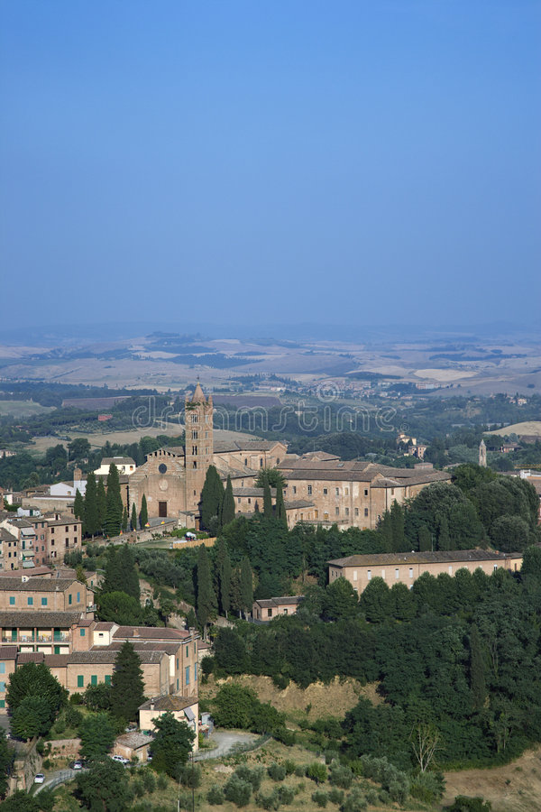Rooftop view of Siena. stock photo