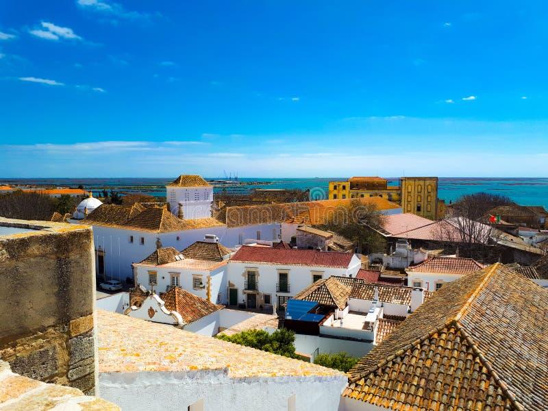 Rooftop-weergave van Faro stock afbeeldingen