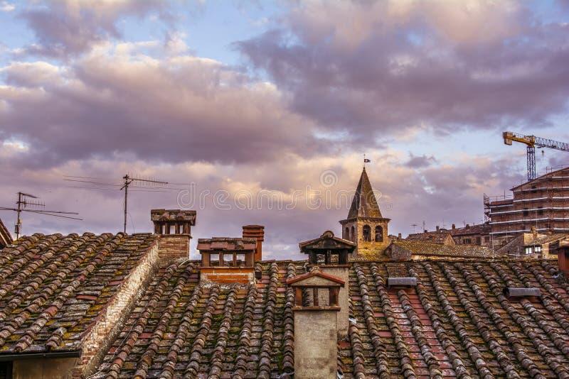 rooftops royaltyfri fotografi