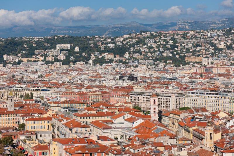 Rooftops Av Nice Royaltyfri Foto