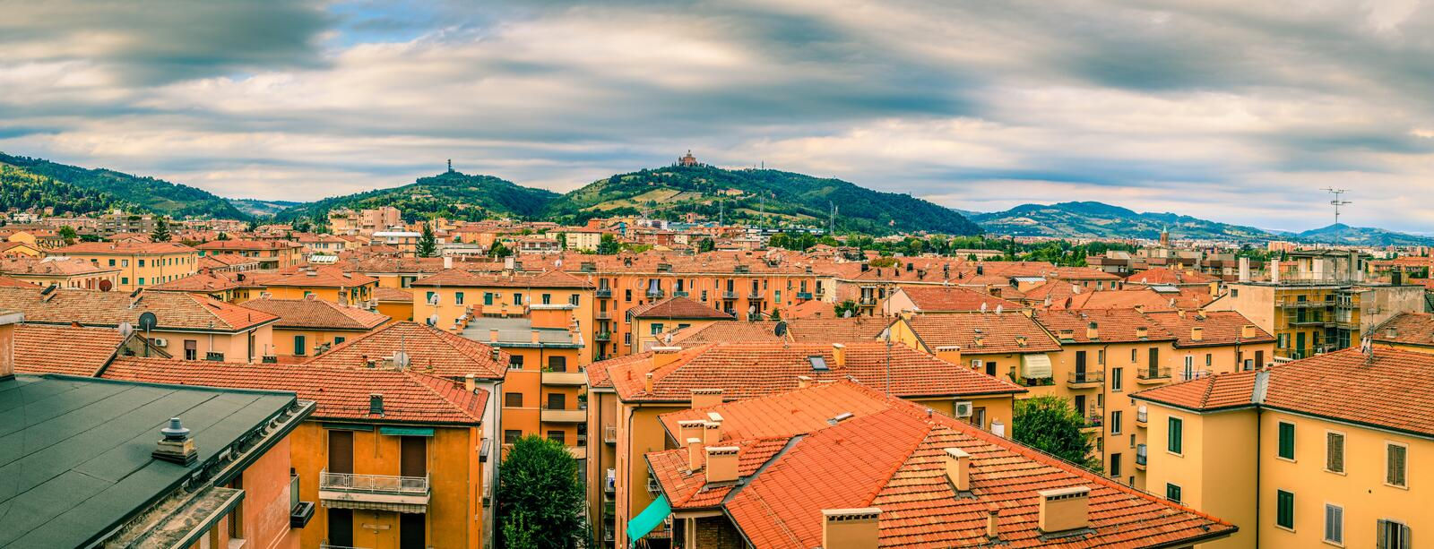 Rooftops of Bologna stock photo