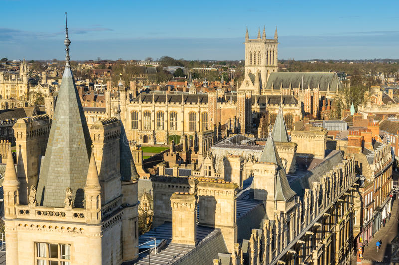 Download Rooftops of cambridge stock image. Image of england, education - 49165537
