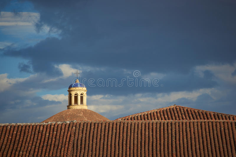Rooftops of Cusco royalty free stock images