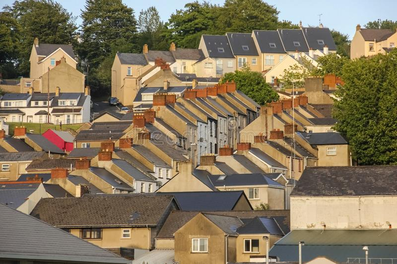 rooftops Derry Londonderry Irlande du Nord Le Royaume-Uni photos stock