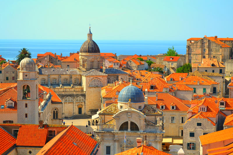 Rooftops in Dubrovnik, Croatia stock images