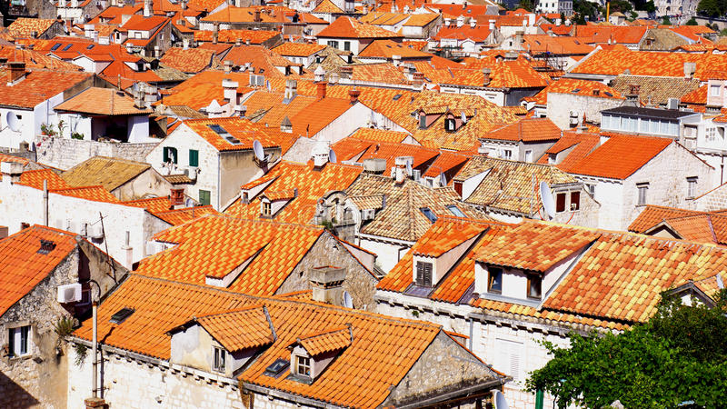 Rooftops of Dubrovnik royalty free stock image