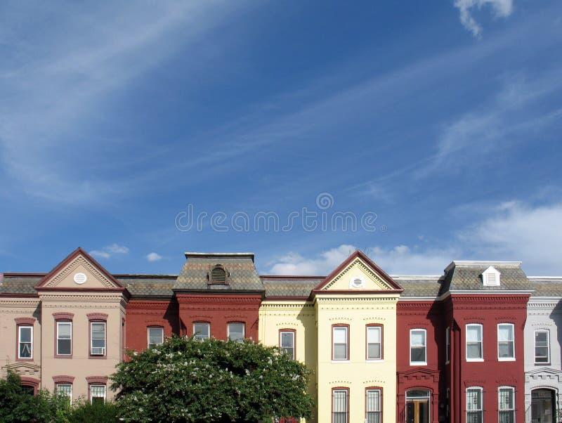 rooftops för 1 dc arkivbild