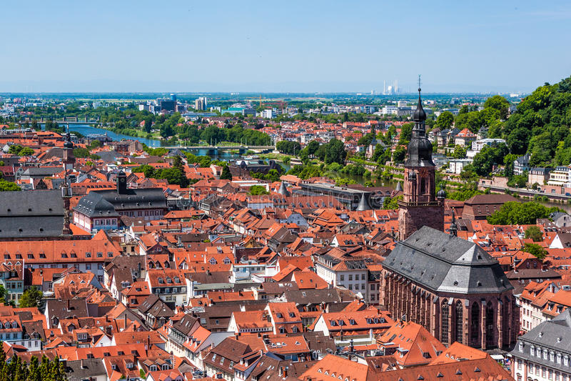 Rooftops Of Heidelberg Old Town, Baden-Wurttemberg