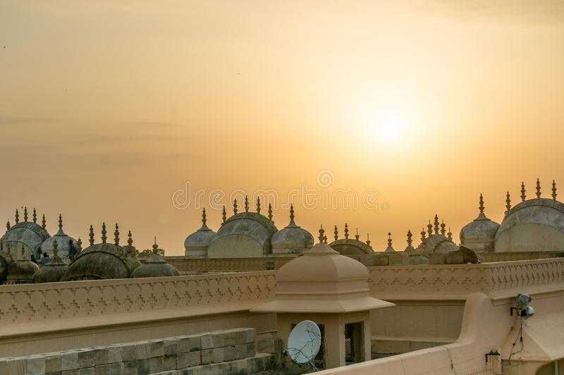 Rooftops of hindu temple in Nahargarh Jiapur stock images
