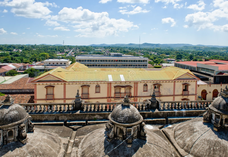 Rooftops of Leon, Nicaragua stock photos