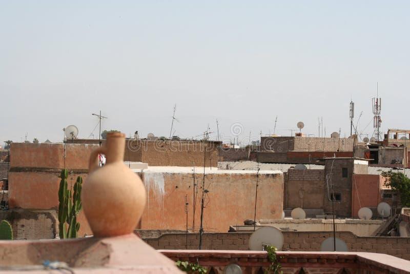 Rooftops In Marrakech Stock Image