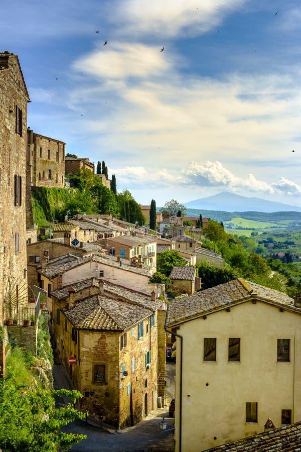 Rooftops in Montepulciano, Tuscany, Italy. Europe royalty free stock photo