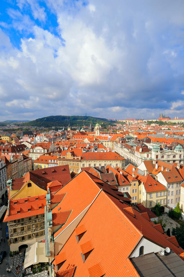 Free Rooftops Of Old Prague Under Scenic Sky Stock Photo - 16724110