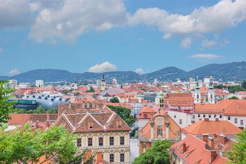 Rooftops over Graz, Styria, Austria royalty free stock image