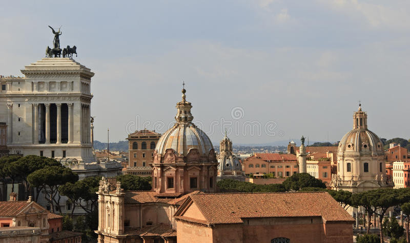 Rooftops of Rome royalty free stock photo