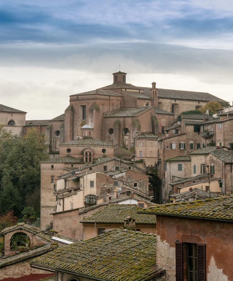 Rooftops in siena italy royalty free stock photo