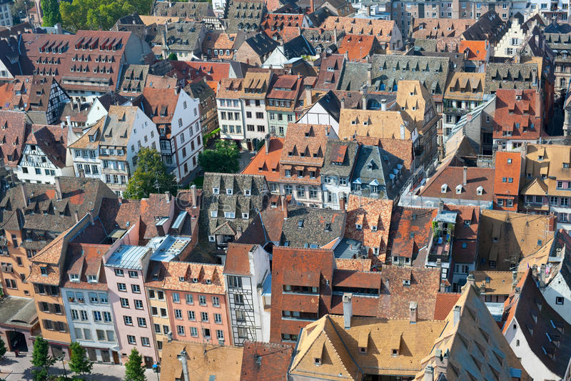 Download Rooftops of Strasbourg stock photo. Image of houses, town - 27368558