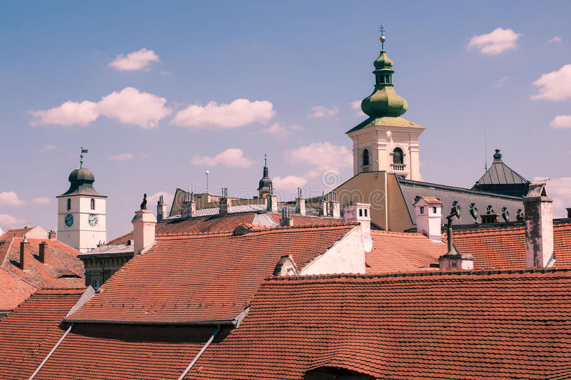 Rooftops and towers stock photos