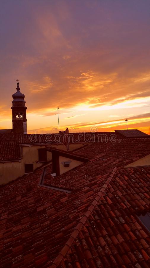 Rooftops in Venice stock photos