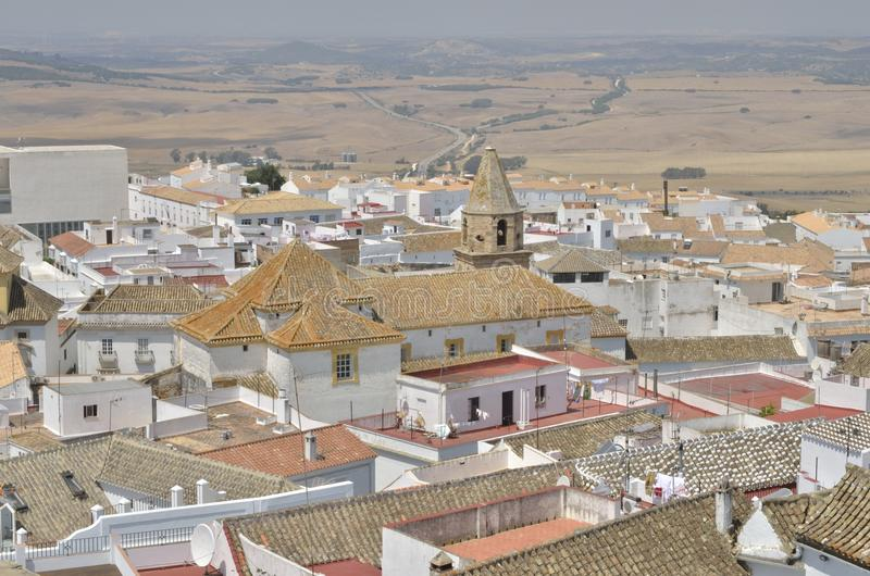 Rooftops of the villlage of Medina Sidonia. A white town of the province of Cadiz, Andalusia, Spain stock images