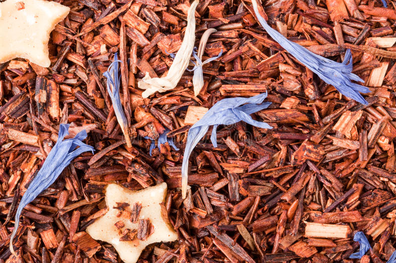Rooibos tea as a background close-up macro stock photography