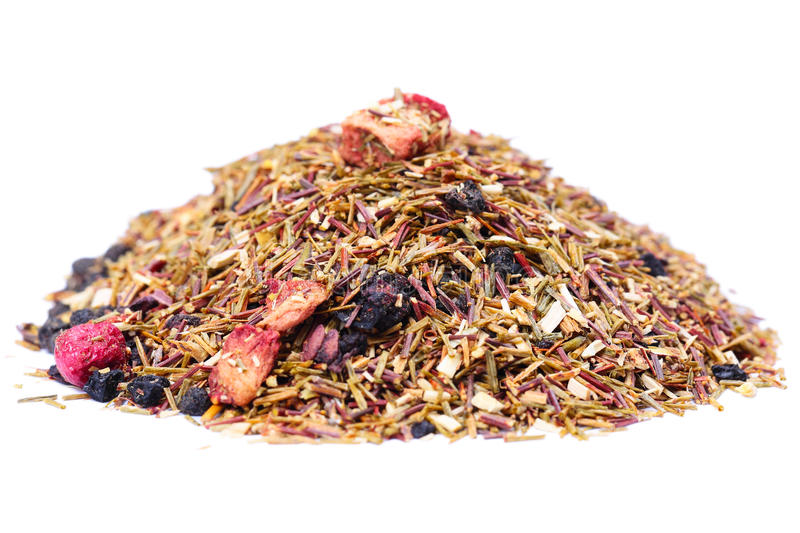 Rooibos tea with berries royalty free stock images
