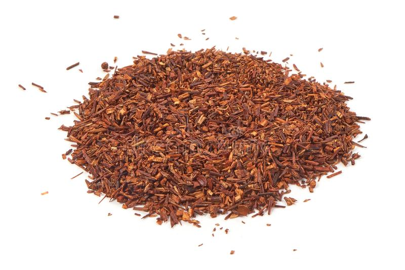 Rooibos tea, close-up, isolated on white background royalty free stock photo