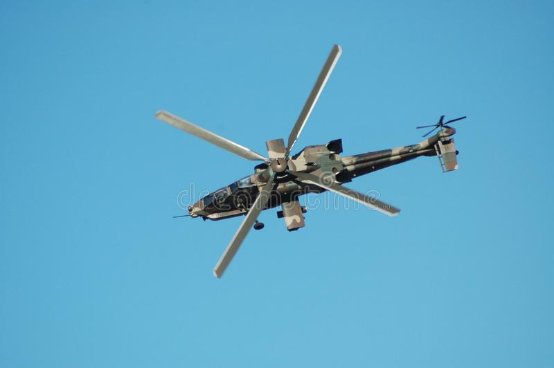 Rooivalk攻击用直升机 库存照片