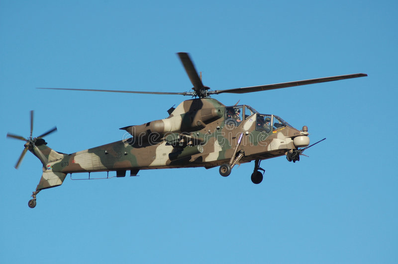 Rooivalk attack helicopter royalty free stock photos