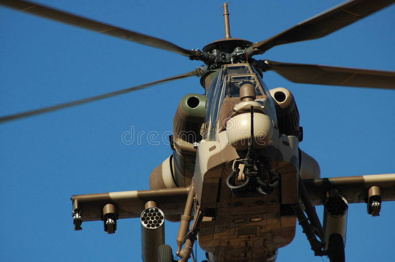 Rooivalk attack helicopter stock image