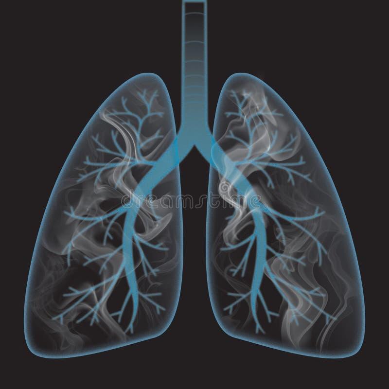 Rook binnen de long vector illustratie