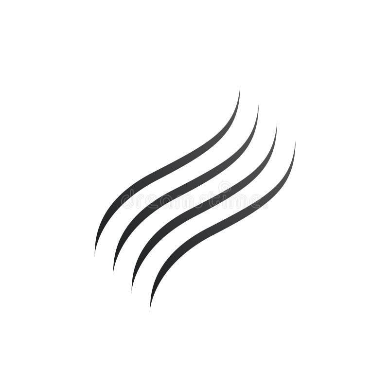 Rook, brand, Verdampend watersilhouet Vector illustratie die op witte achtergrond wordt ge?soleerdd royalty-vrije illustratie