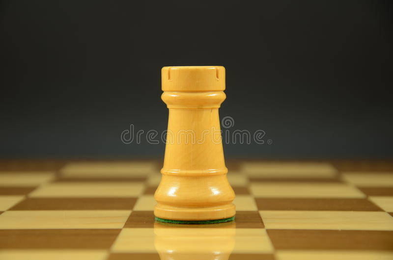 Rook On A Chessboard Royalty Free Stock Image