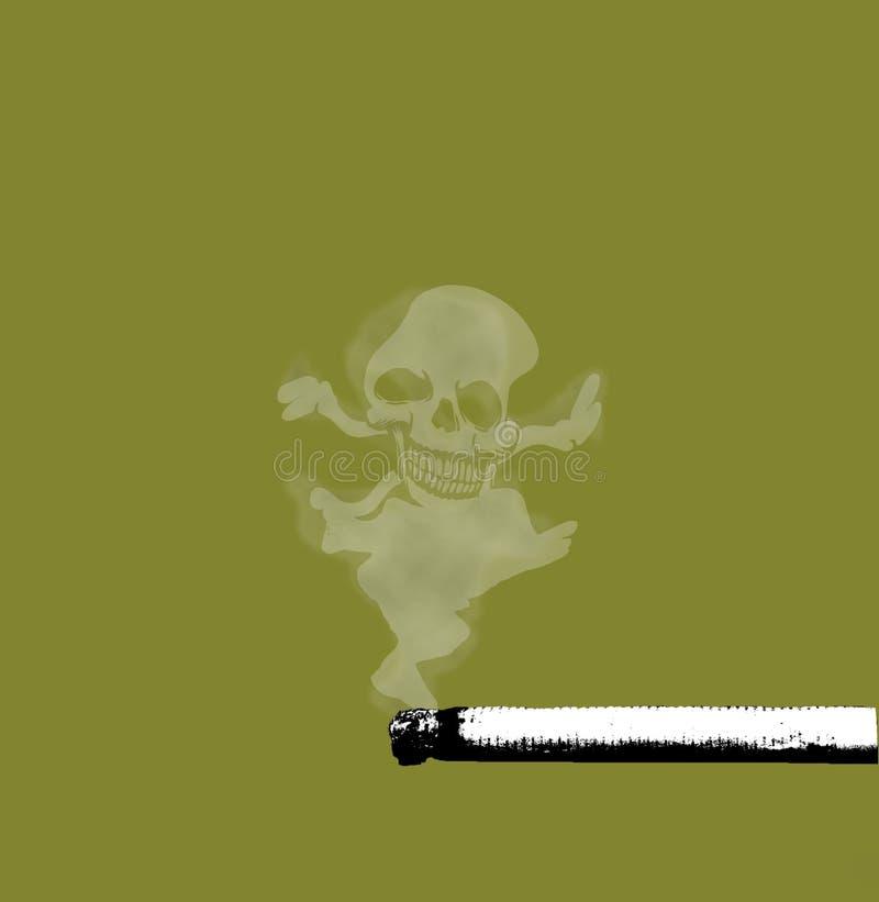 rook en schedel royalty-vrije illustratie