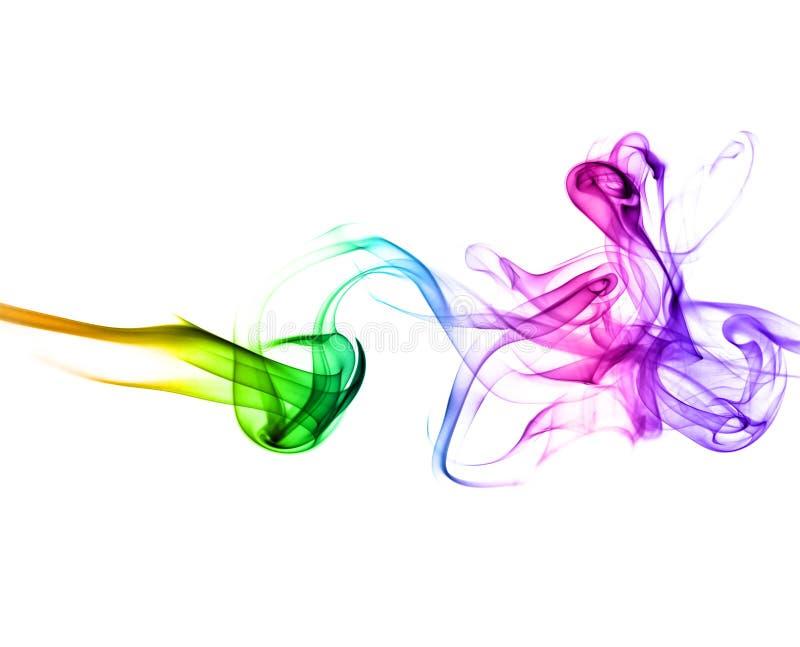 Rook met regenboogkleuren stock afbeeldingen