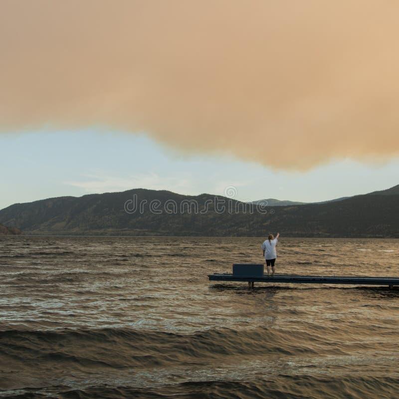 Rook in Okanagan-vallei royalty-vrije stock foto