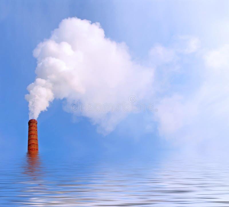 Rook op het water stock illustratie