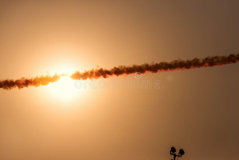 Rook van een oorlogsvliegtuig stock fotografie