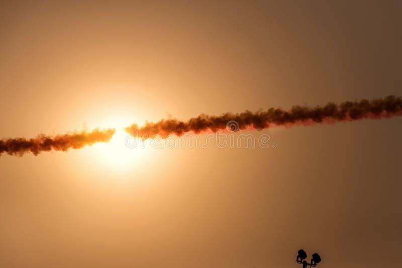 Rook van een oorlogsvliegtuig stock foto's