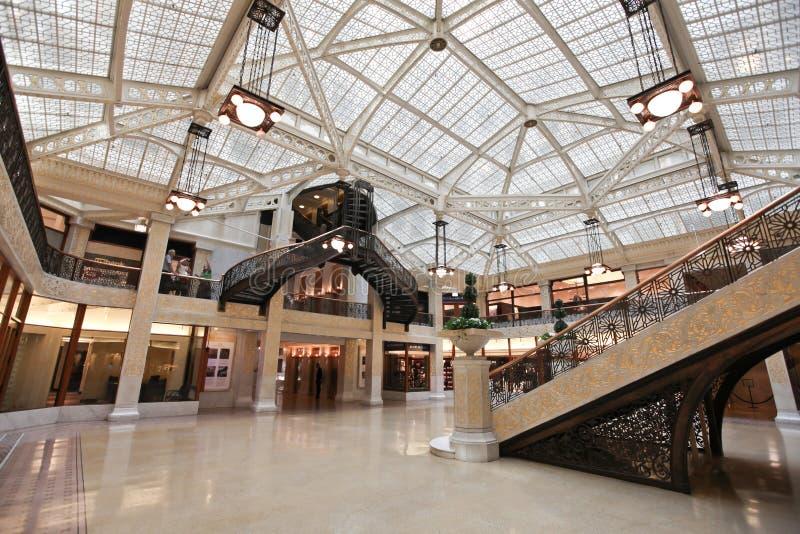 Rookery building interior Chicago Illinois royalty free stock photos