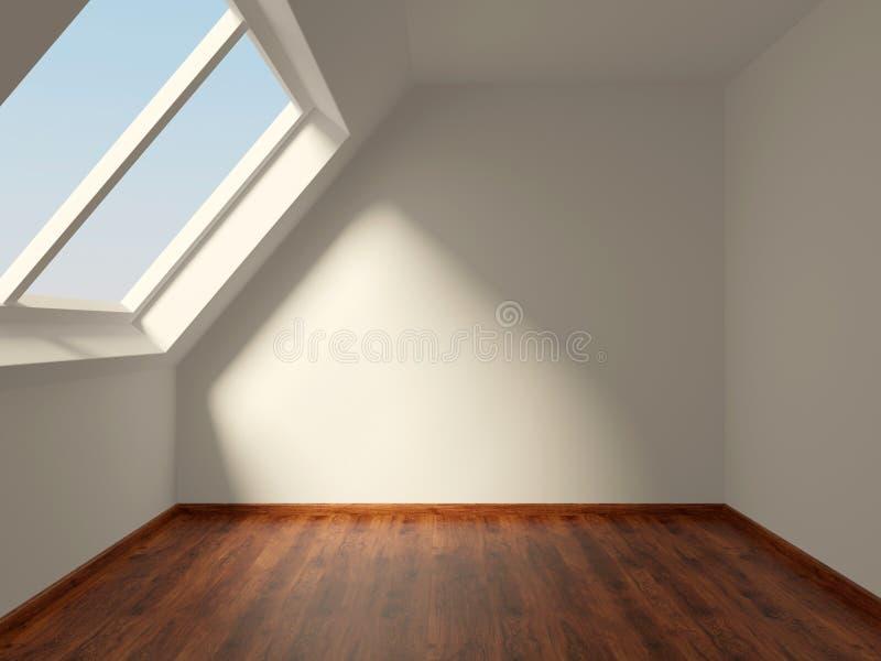 Room. Empty room on the loft stock photos