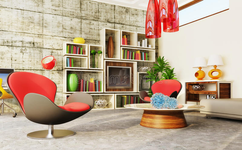 Download Room stock illustration. Image of living, concrete, decor - 18931023