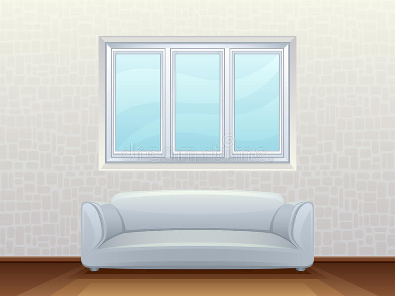 Download Room stock vector. Illustration of cushion, clean, inside - 26841702