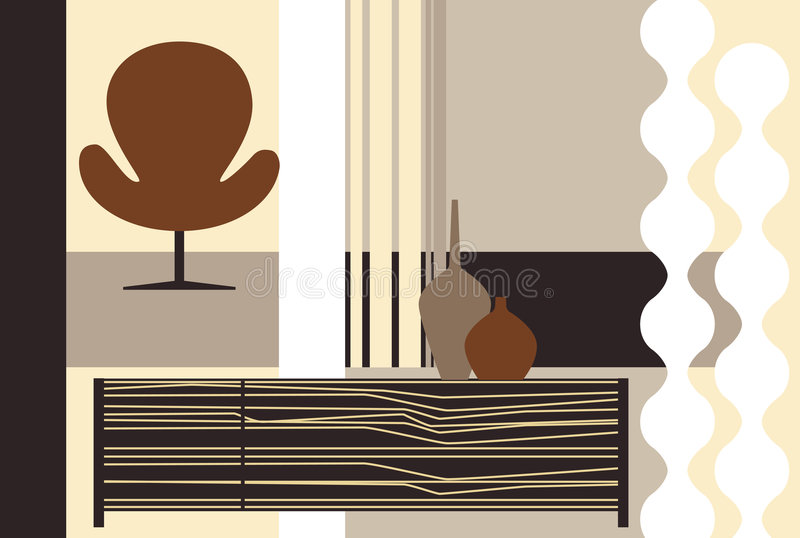 Download Room stock vector. Image of modern, bouquet, curve, luxury - 5501197