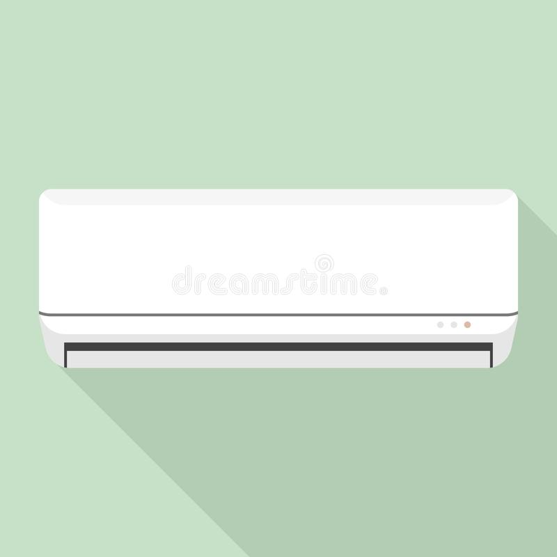Room air conditioner icon, flat style. Room air conditioner icon. Flat illustration of room air conditioner vector icon for web design royalty free illustration